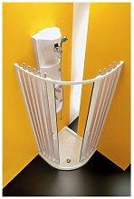 Box doccia curvo centrale due lati a soffietto in