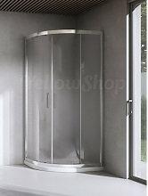 Box doccia curvo cm 80x80x195 cristallo temperato