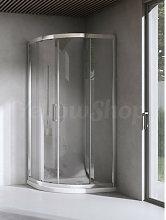 Box doccia curvo cm 90x90x195 cristallo temperato