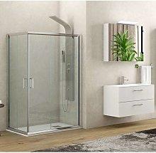Box doccia dimensioni 140x80 vetro trasparente