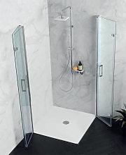 Box doccia doppia porta soffietto anticalcare PS35