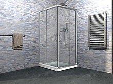 Box doccia due lati apertura scorrevole in