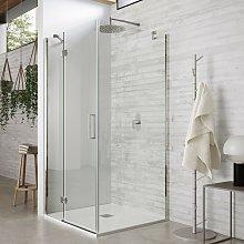Box doccia due lati battente trasparente 8mm