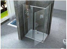Box doccia due lati con porta battente cristallo