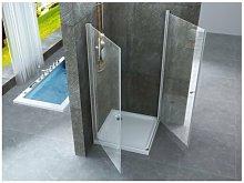 Box doccia due lati saloon interno esterno