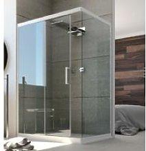 Box doccia due lati scorrevole con anta fissa pvc