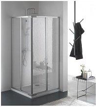 Box doccia due lati scorrevole in pvc e alluminio
