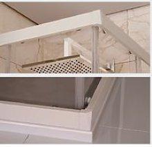 Box doccia due lati scorrevole pvc bianco e