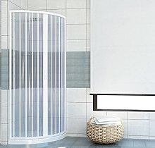 Box doccia estensibile PVC semicircolare anta