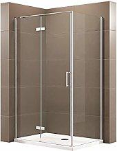 Box doccia fisso con porta a battente EX409 -