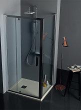 Box doccia FPB40 cristallo 6 mm satinato 90x110