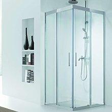 Box doccia in acciaio 100x80 telaio cristallo 8mm