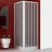 Box doccia Luna 100x100 cm in PVC con apertura a