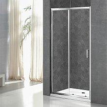 Box doccia Nicchia 100 cm porta scorrevole serie