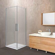 Box doccia OSLO doppia porta battente quadrato