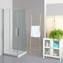 Box doccia OSLO doppia porta scorrevole quadrato