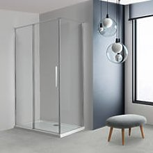 Box doccia OSLO porta battente con fissetto più