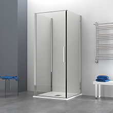 Box doccia OSLO porta battente quadrato 3 lati