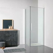 Box doccia OSLO porta battente quadrato 75x75 cm