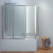 Box doccia per vasca 140x70cm angolare cristallo