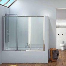Box doccia per vasca 170-180cm apertura 2 ante