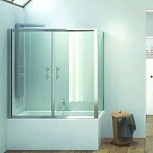 Box doccia per vasca 2 lati 170x70 modello kv05