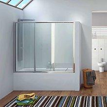 Box doccia per vasca da 140cm con apertura