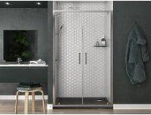 Box doccia porta 2 battenti profilo cromato