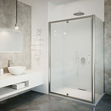 Box doccia porta a battente ad angolo cm 100 x 70