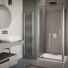 Box doccia porta a battente ad angolo cm 80