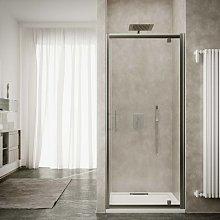 Box doccia porta a battente cm 90 cristallo