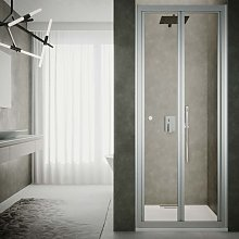 Box doccia porta pieghevole cm 80 cristallo