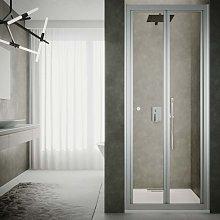 Box doccia porta pieghevole cm 90 cristallo