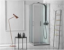 Box doccia porte scorrevoli quadrato con