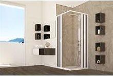 Box doccia pvc cabina angolare soffietto in