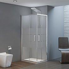Box doccia Quadrato 90x90 in Vetro Serigrafato con