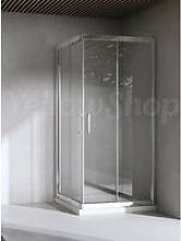 Box doccia quadrato cm 75x75x195 cristallo