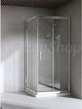 Box doccia quadrato cm 90x90x195 cristallo