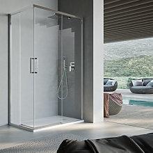 Box doccia quadrato con apertura angolare cm