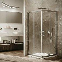 Box doccia rettangolare 70 x 120 cm con ante