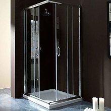 Box doccia rettangolare 70x90 in cristallo da 6 mm