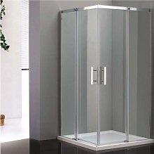 Box doccia rettangolare 80 x 120 cm con ante