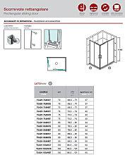 Box doccia rettangolare 80x100 Roma - Bagnoexpert