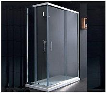 Box doccia rettangolare 80x120 Roma - Bagnoexpert
