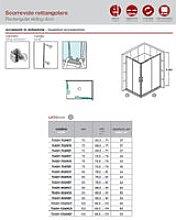 Box doccia rettangolare 80x120 Roma