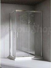 Box doccia rettangolare cm 80x100x195 cristallo