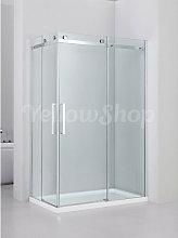 Box doccia rettangolare cm 80x120xh190 cristallo