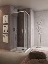 Box doccia rettangolare QUADRO 80x120 cm -
