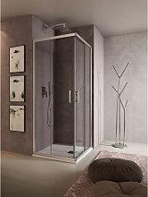 Box doccia rettangolare QUADRO 80x120 cm