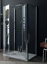 Box doccia SALOON con doppio fisso in cristallo 6